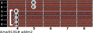 Amaj9/13/G# add(m2) guitar chord