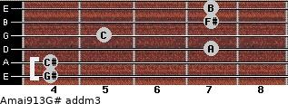 Amaj9/13/G# add(m3) guitar chord