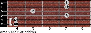Amaj9/13b5/G# add(m3) guitar chord