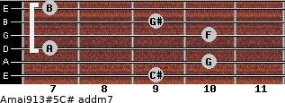 Amaj9/13#5/C# add(m7) guitar chord