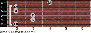 Amaj9/13#5/F# add(m3) guitar chord