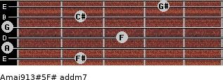 Amaj9/13#5/F# add(m7) guitar chord