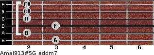 Amaj9/13#5/G add(m7) guitar chord