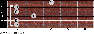 Amaj9/13#5/Gb guitar chord