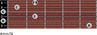 Amin7/6 for guitar on frets 5, 0, 2, 0, 1, 2