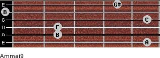 Am(maj9) for guitar on frets 5, 2, 2, 5, 0, 4