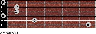 Am(maj9/11) for guitar on frets 5, 2, 0, 1, 1, 0