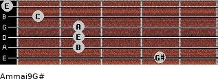 Am(maj9)/G# for guitar on frets 4, 2, 2, 2, 1, 0