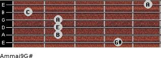 Am(maj9)/G# for guitar on frets 4, 2, 2, 2, 1, 5