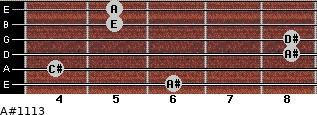 A#º11\13 for guitar on frets 6, 4, 8, 8, 5, 5