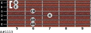 A#º11\13 for guitar on frets 6, 6, 7, 6, 5, 5