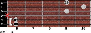A#º11\13 for guitar on frets 6, 6, x, 9, 10, 9