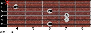 A#º11\13 for guitar on frets 6, 7, 7, 6, 4, x