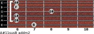 A#11sus/B add(m2) guitar chord