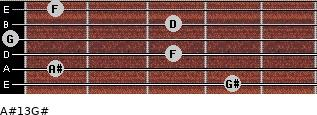 A#13/G# for guitar on frets 4, 1, 3, 0, 3, 1