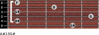 A#13/G# for guitar on frets 4, 1, 5, 1, 3, 1