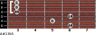 A#13b5 for guitar on frets 6, 5, 6, 3, 3, 3