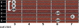 A#13b5 for guitar on frets 6, 7, 6, 3, 3, 3