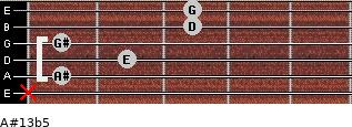 A#13b5 for guitar on frets x, 1, 2, 1, 3, 3