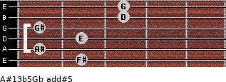 A#13b5/Gb add(#5) guitar chord