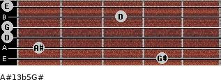 A#13b5/G# for guitar on frets 4, 1, 0, 0, 3, 0