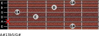 A#13b5/G# for guitar on frets 4, x, 2, 1, 3, 4