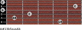 A#13b5sus/Ab for guitar on frets 4, 1, 2, 0, 5, 0