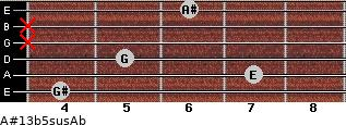 A#13b5sus/Ab for guitar on frets 4, 7, 5, x, x, 6