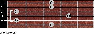A#13#5/G for guitar on frets 3, 1, 4, 1, 3, 3