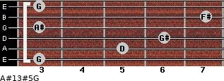 A#13#5/G for guitar on frets 3, 5, 6, 3, 7, 3