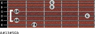 A#13#5/Gb for guitar on frets 2, 1, 5, 1, 3, 3