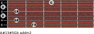 A#13#5/Gb add(m2) guitar chord