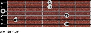 A#13#5/G# for guitar on frets 4, 1, 4, 0, 3, 3