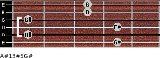 A#13#5/G# for guitar on frets 4, 1, 4, 1, 3, 3