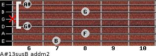 A#13sus/B add(m2) guitar chord