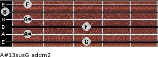A#13sus/G add(m2) guitar chord