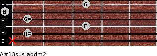 A#13sus add(m2) guitar chord