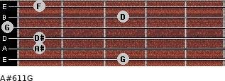 A#6/11/G for guitar on frets 3, 1, 1, 0, 3, 1