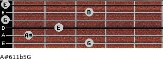 A#6\11b5\G for guitar on frets 3, 1, 2, 0, 3, 0