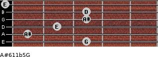 A#6\11b5\G for guitar on frets 3, 1, 2, 3, 3, 0