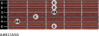 A#6\11b5\G for guitar on frets 3, 1, 2, 3, 3, 3