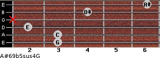 A#6/9b5sus4/G for guitar on frets 3, 3, 2, x, 4, 6