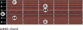 A#6/G for guitar on frets 3, 1, 0, 3, 3, 1