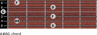 A#6/G for guitar on frets 3, 1, 3, 0, 3, 1