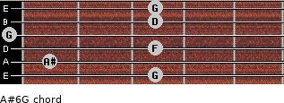 A#6/G for guitar on frets 3, 1, 3, 0, 3, 3