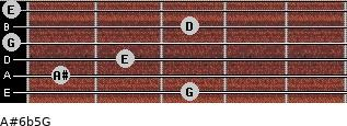 A#6b5/G for guitar on frets 3, 1, 2, 0, 3, 0