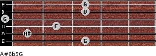 A#6b5/G for guitar on frets 3, 1, 2, 0, 3, 3