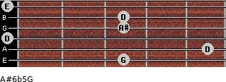 A#6b5/G for guitar on frets 3, 5, 0, 3, 3, 0