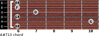 A#7/13 for guitar on frets 6, 10, 6, 7, 6, 6