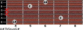 A#7b5sus/G# for guitar on frets 4, 7, x, x, 5, 6